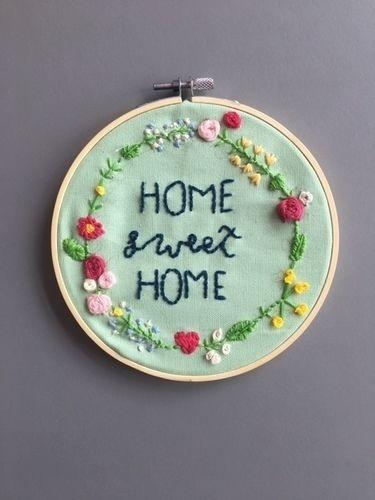Makerist - Home Sweet Home Stickerei - DIY-Projekte - 1