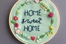 Makerist - Home Sweet Home Stickerei - 1