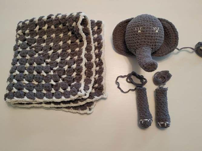 Makerist - Security blanket elephant - Crochet Showcase - 3