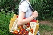 Makerist - Une tapisserie recyclée en sac - 1