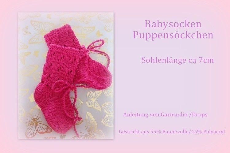 Makerist - Babysöckchen mit Lochmuster  - Strickprojekte - 2
