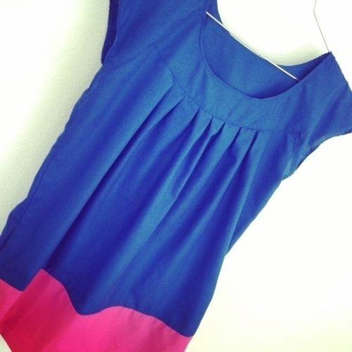 Makerist - Kleid A-Linie Colourblocking - Nähprojekte - 1