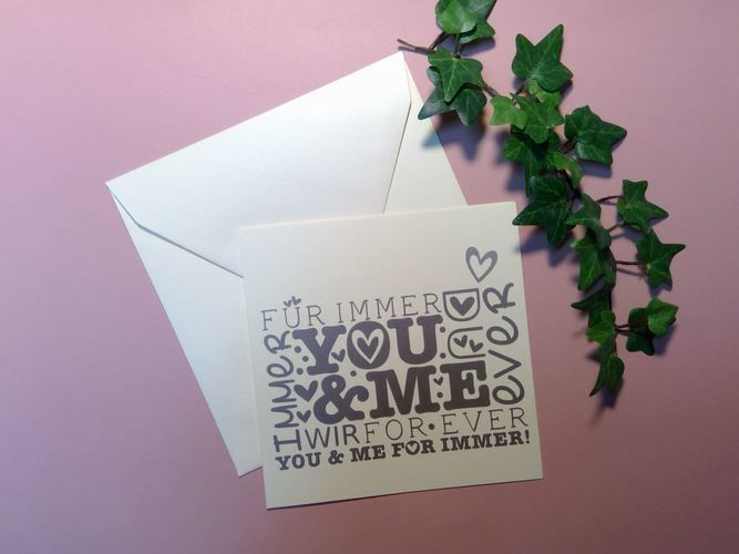 Makerist - you and me Karte - DIY-Projekte - 1