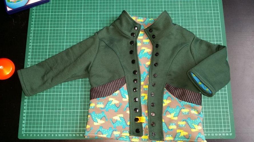 Makerist - Dino Sweat Jacke für meinen Sohn - Nähprojekte - 1