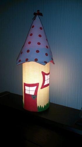 Makerist - Leuchthäuschen aus Stoffresten ...... Nachtlicht für meine Tochter .... - Nähprojekte - 2