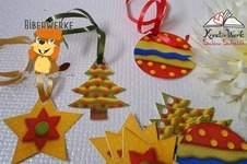Makerist - Geschenkanhänger zu Weihnachten im Filzlook - 1