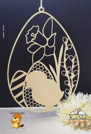 Makerist - Fensterbild Ostern mit Blumen - 1