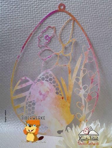Makerist - Fensterbild Ostern mit Blumen - DIY-Projekte - 2