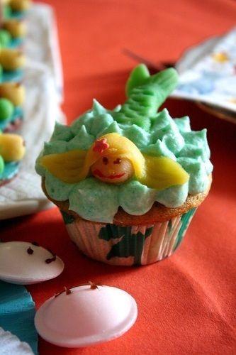 Makerist - Meerjungfrauen Cupcake - Torten, Cake Pops und Cupcakes - 1
