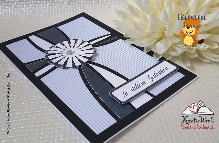 Makerist - Trauerkarte Blume - DIY-Projekte - 2