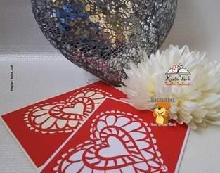 Makerist - Grußkarte mit Herz - 1