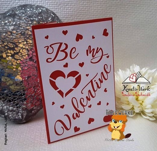 Makerist - Grußkarte Be my Valentin - DIY-Projekte - 1