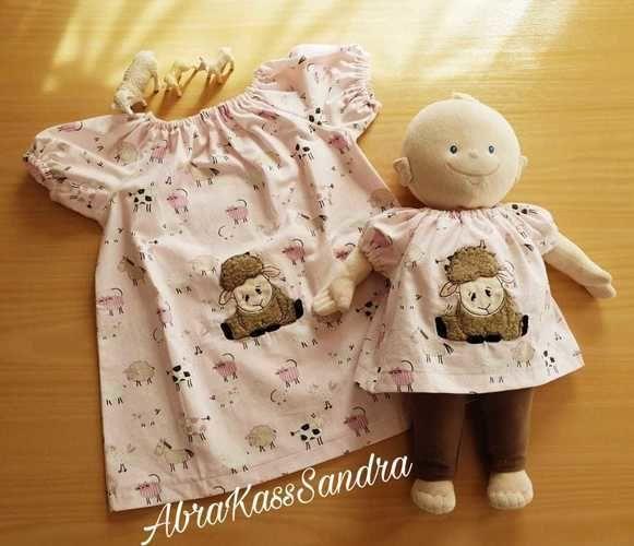 Makerist - Blüschen für die Prinzessin und ihre Puppe - Nähprojekte - 1