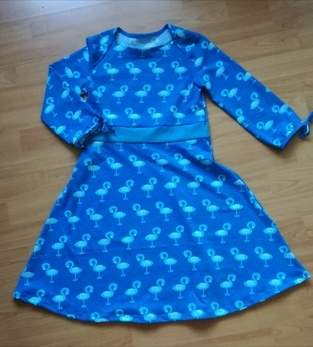 Makerist - Flamingokleid aus Jersey, Gr. 134 - 1