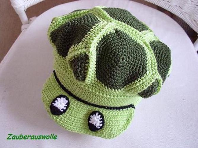 """Makerist - Häkelmütze """"Schildi-Die Schildkrötenmütze"""" für Kinder und Erwachsene - Häkelprojekte - 1"""