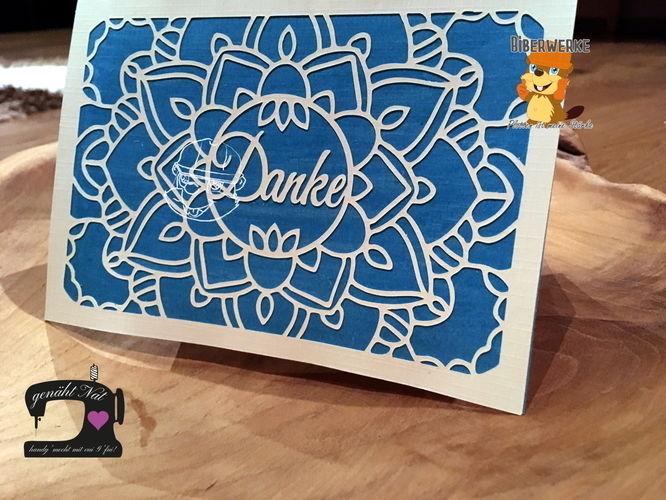 Makerist - Grußkarte Danke von Biberwerke - DIY-Projekte - 1