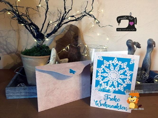 """Makerist - Grußkarte """"Weihnachtsornament"""" von Biberwerke mit passendem Umschlag - DIY-Projekte - 1"""