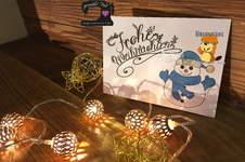 """Makerist - Digistamp """"Frohe Weihnachten"""" von Biberwerke - 1"""