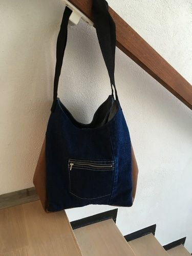 Makerist - Meine Upcycling Slouchy Bag - Nähprojekte - 2