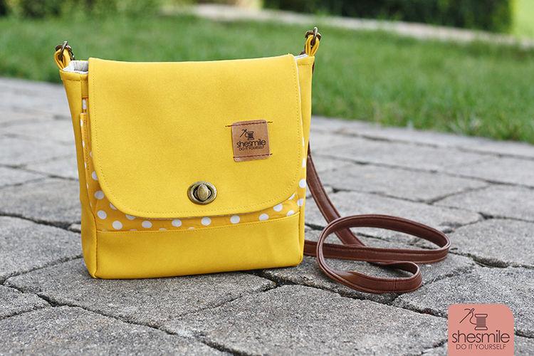 Makerist - Eine Handtasche Ulla in knallgelb und altgold! Ein Upcycling-Projekt! - Nähprojekte - 3