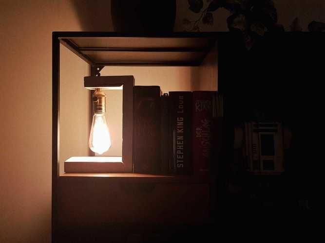 Makerist - Buchstütze Lampe - DIY-Projekte - 1
