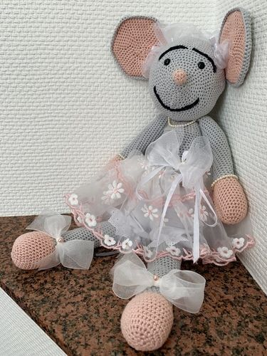 Makerist - Abbigail, die Hochzeitsmaus - Häkelprojekte - 3