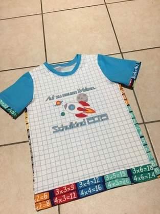 Shirt zur Einschulung// AnniNanni Sonmerjunge