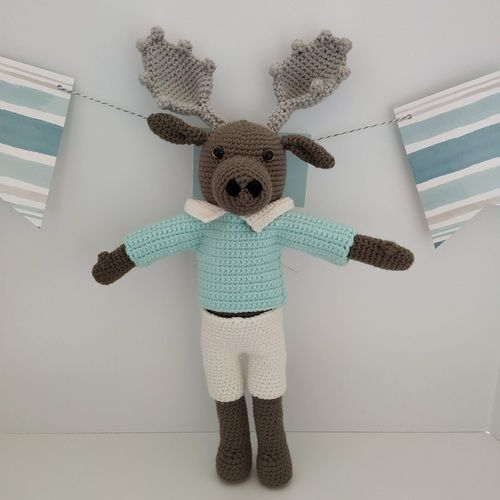 Makerist - Amigurumi – Moody the moose - crochet – tutorial - Crochet Showcase - 1