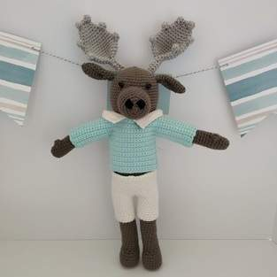 Makerist - Amigurumi – Moody the moose - crochet – tutorial - 1