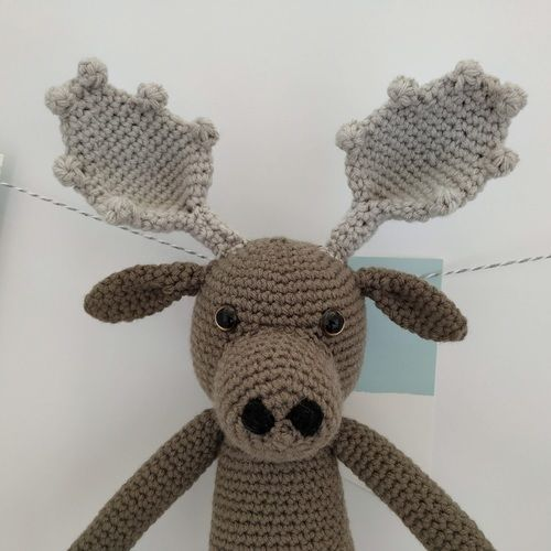 Makerist - Amigurumi – Moody the moose - crochet – tutorial - Crochet Showcase - 3