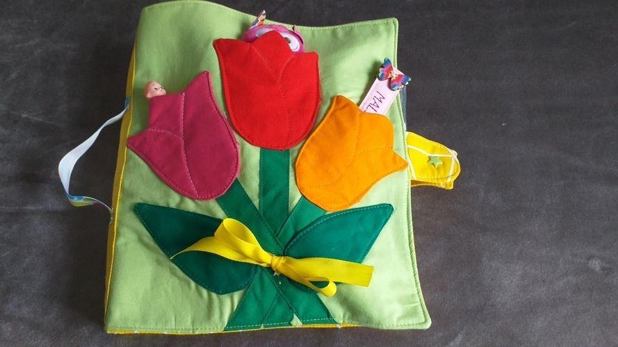 Makerist - Quietbook pour enfant de 0 à 3 ans tout en coton - Autres créations - 1