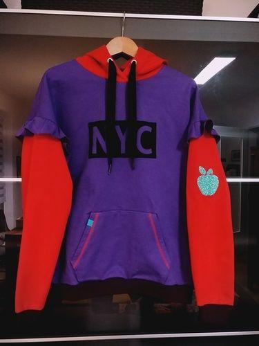 """Makerist - Hoodie """"Big Apple/NYC"""" - Nähprojekte - 1"""
