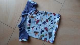 Raglan-T-Shirt mit Knopfleiste am Hals aus Jersey