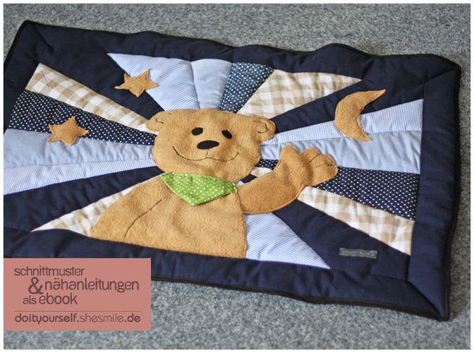 Makerist - Baby-Patchworkdecke mit Bärenapplikation und Kuschelrückseite - Nähprojekte - 1