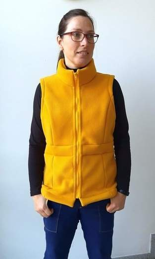 Benirras the Vest aus Doubleface Fleece