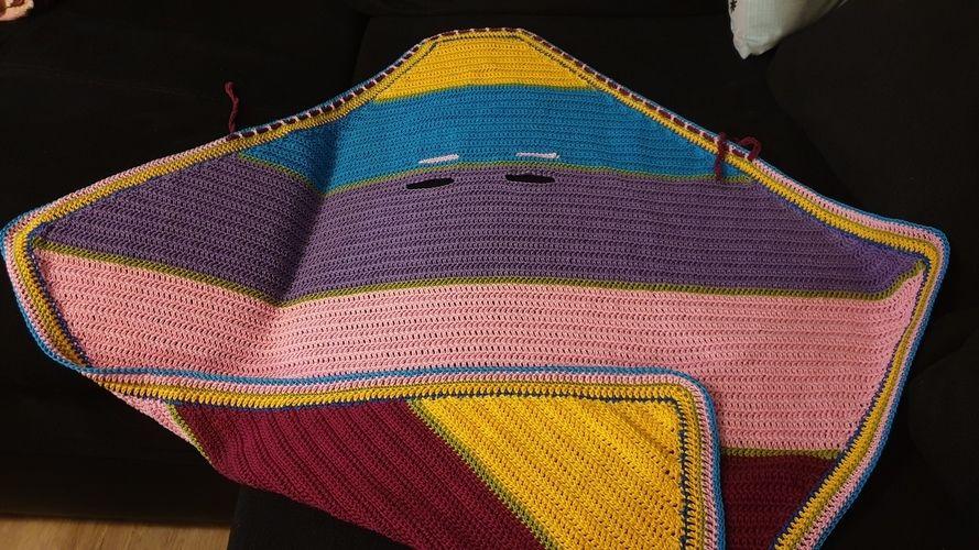 Makerist - Quietschebunte Version der Babyeinschlagdecke - Häkelprojekte - 2