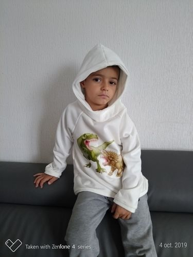 Makerist - Sweat Toni en sweat  blanc cassé pour mon fils  - Créations de couture - 1