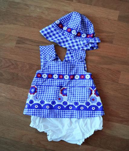 Makerist - Upcycling: Schürzenkleid mit Mütze und Höschen aus alter, kaputter Bettwäsche für Kinder - Nähprojekte - 3