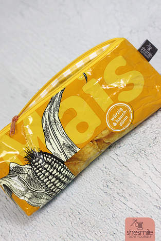 Makerist - Stiftemäppchen Lotto aus einer leeren Maiswaffel-Verpackung nähen - 1