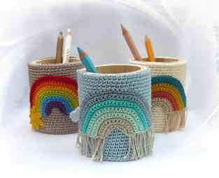Makerist - Stiftebecher mit Regenbogen - 1