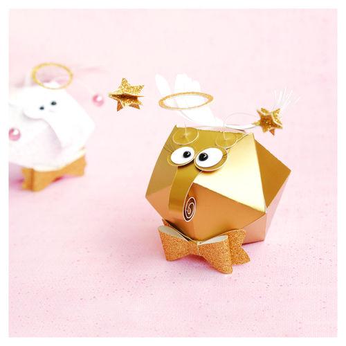 "Makerist - plottered round gift box ""angel bug"" - DIY-Projekte - 1"