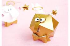 "Makerist - plottered round gift box ""angel bug"" - 1"