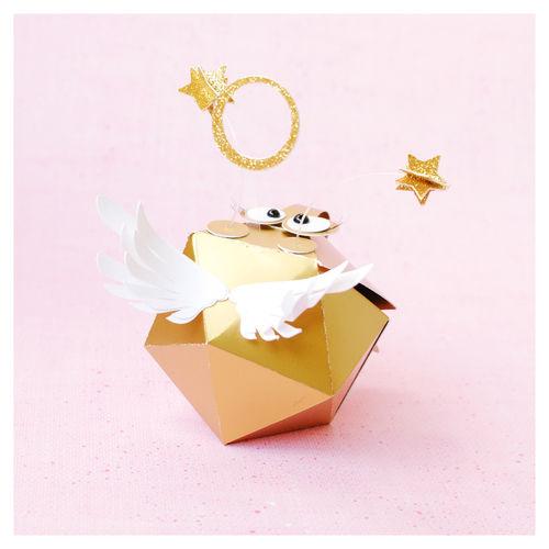 "Makerist - plottered round gift box ""angel bug"" - DIY-Projekte - 2"