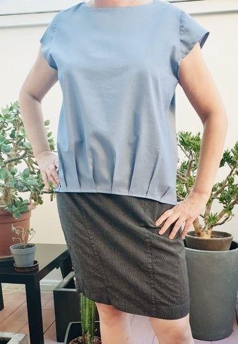 Makerist - Mme Nina en coton bleu - Créations de couture - 1
