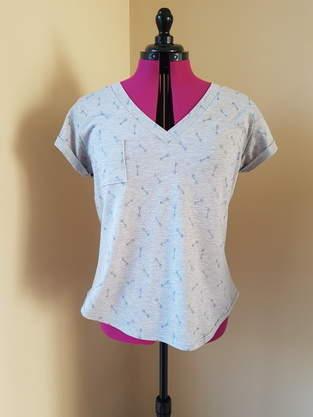 T-shirt Le decontractré Kommatia patterns