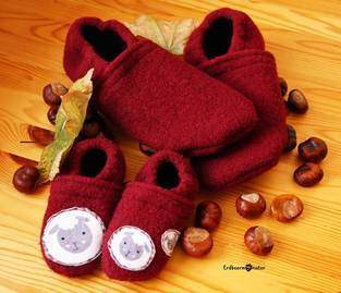 Makerist - Puschen aus Wollwalk - für kuschelig warme Füße - 1
