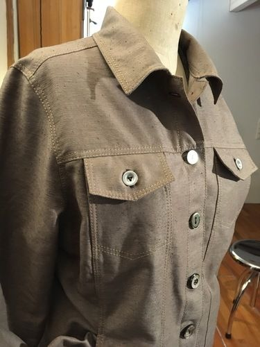 Makerist - Jeansjacke, upcycling aus gefärbtem Vorhang - Nähprojekte - 2