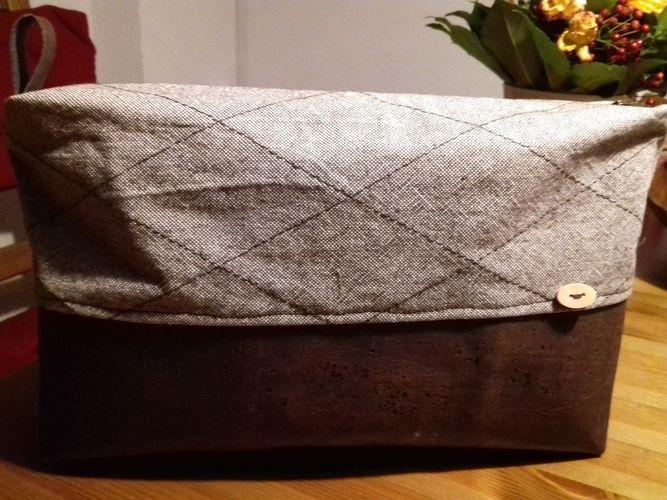 Makerist - Kulturtasche für die Herren mit Kork - Nähprojekte - 1