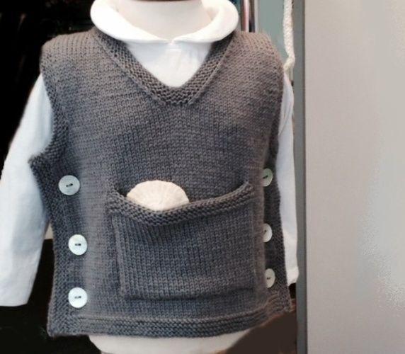 Makerist - Baby-Pullunder - Strickprojekte - 1