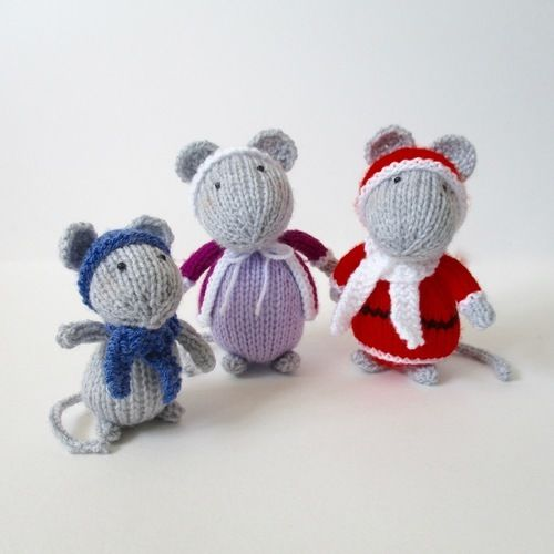 Makerist - Festive Mice - Knitting Showcase - 1